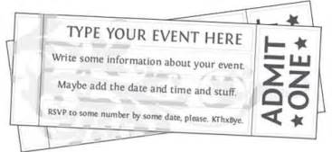 free editable printable event tickets and lots of other