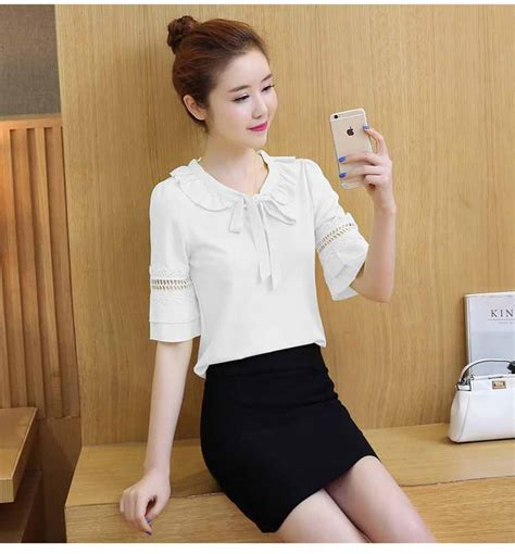 Blouse Wanita Is 1999 Putih blouse putih wanita cantik simple 2017 model terbaru