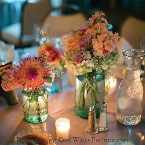blue mason jar wedding centerpieces to inspire you ipunya