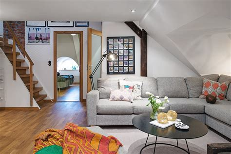 appartment style modern attic apartment in the scandinavian style