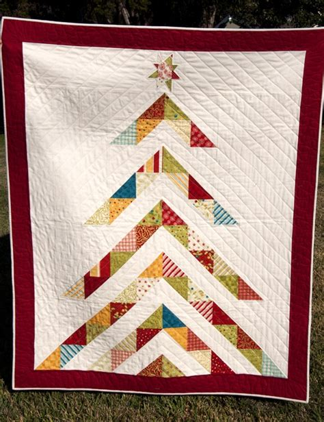 christmas tree triangle pattern fabric warrior half square triangle quilts pinterest