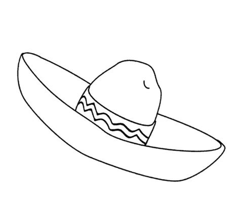 mexican sombrero coloring page coloring pages