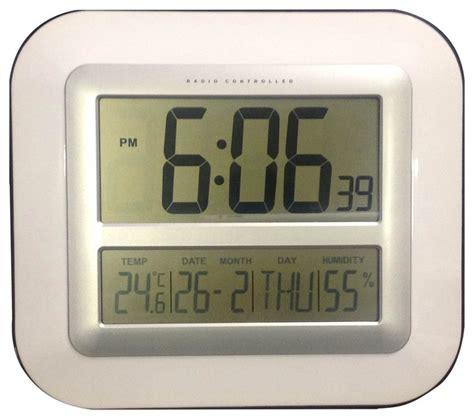 jumber numbers lcd atomic radio led alarm clock modern alarm clocks by sonnet