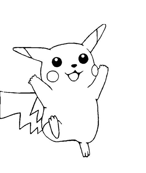 coloring page of pikachu free printable pikachu coloring pages for kids