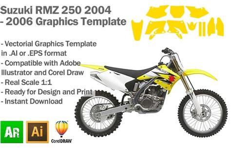 suzuki rmz 250 mx motocross 2004 2005 2006 graphics
