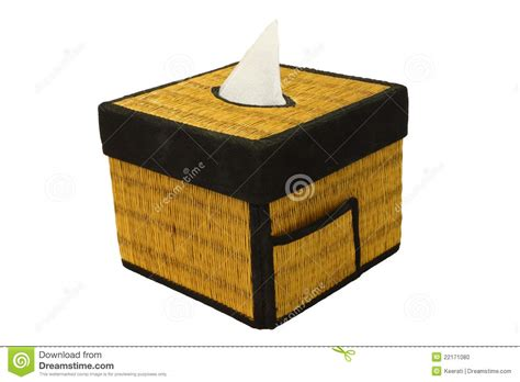 Tissue Paper Box Craft - bamboo craft tissue paper box stock photo image 22171080