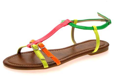 womens fluorescent summer sandals neon flip flops