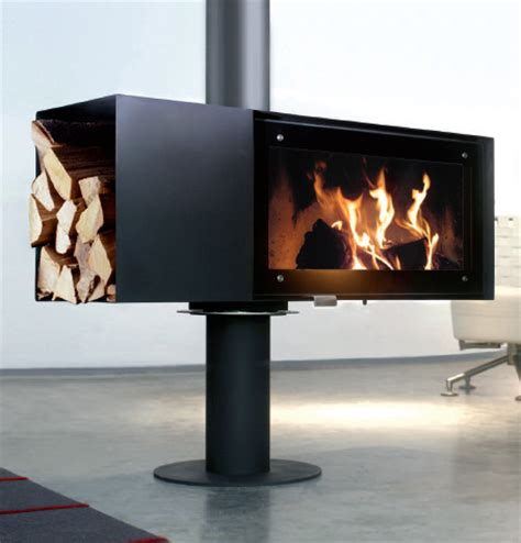 Conmoto Fireplace by Rotating Wood Burning Fireplace From Conmoto New Turn
