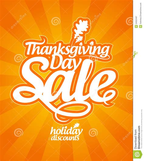 thanksgiving day sale royalty free stock photography