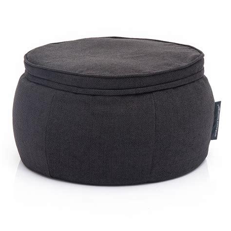 ottoman bean bag interior bean bags wing ottoman black sapphire bean