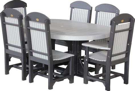 Luxcraft Outdoor Furniture by Luxcraft Captain Chair Oval Dining Set From Dutchcrafters