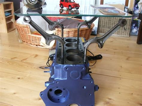 Making A 4 Cylinder Engine Into A Coffee Table Engine Engine Block Coffee Tables