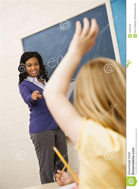 teacher calling  student stock image image  african