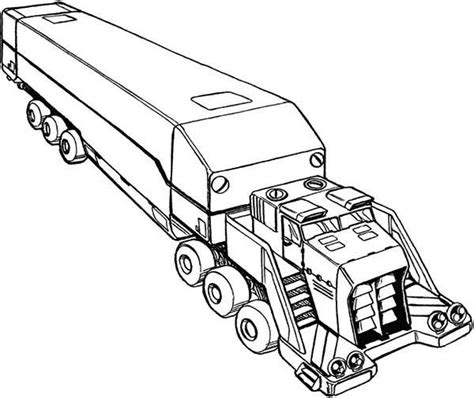 18 wheeler pages coloring pages