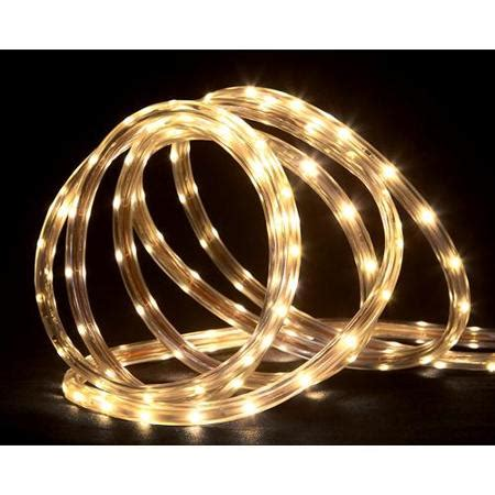 18 warm white led indoor outdoor christmas rope lights