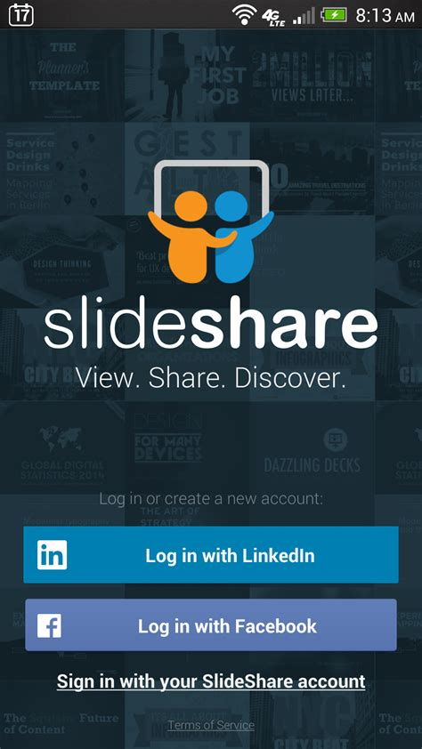 login app for android slideshare releases mobile app redesigns its mobile web view