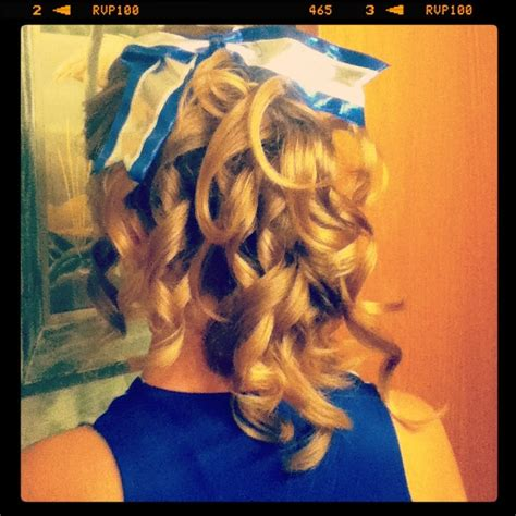 college cheerleading hairstyles 53 best cheer hair images on pinterest collage football