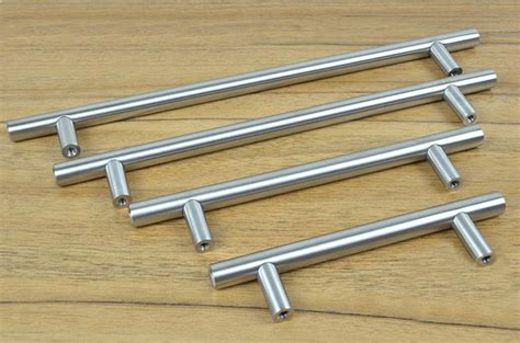 stainless steel kitchen cabinet handles furniture hardware modern solid stainless steel kitchen cabinet handles bar t handle c c 256mm