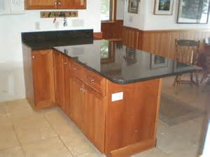 kitchen island countertop overhang a mesabi black granite countertop install huisman concepts