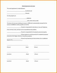 templates free simple 6 simple rental agreement form model resumed