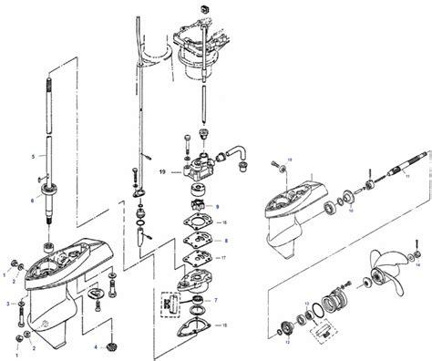 5 pk buitenboordmotor kopen staartstuk onderdelen 4 5 pk mercury buitenboordmotor