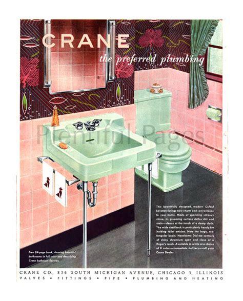 vintage bathroom advertisements 1951 crane plumbing vintage ad 1950 s decor retro