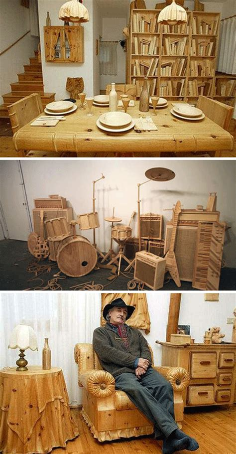 Knock On Wood, Then Drive It! 28 Crazy Wooden Creations