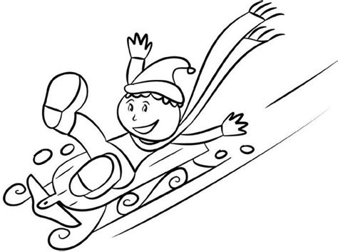 free coloring pages of sledding