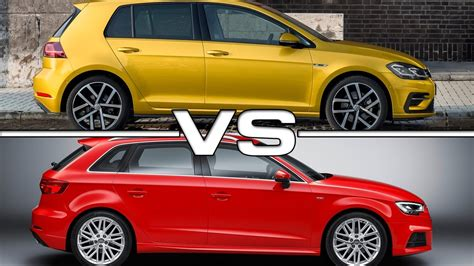 Audi A3 Vs A3 Sportback by 2017 Volkswagen Golf Vs 2017 Audi A3 Sportback