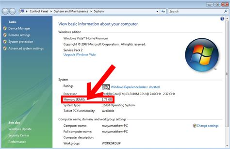 how to you how to tell how much ram you in windows vista 4 steps