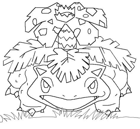 pokemon coloring pages venusaur pokemon coloring page 003 venusaur coloring pages
