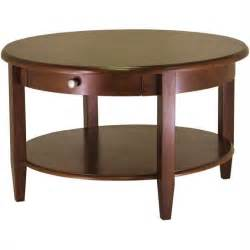 Round Wooden Table by Winsome Concord Round Wood Walnut Coffee Table Ebay