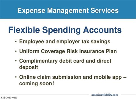 section 125 flexible spending account c a brokerage services presentation