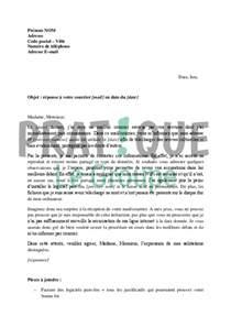 Lettre De Départ D Entreprise Lettre De R 233 Ponse 224 Hadopi Suite 224 Un Avertissement Non Justifi 233 Pratique Fr