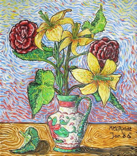 Van Gogh Flowers In Vase 214 Lbild Blumenvase