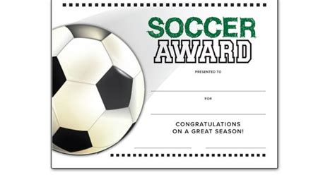 templates for soccer awards soccer end of season award certificate free download