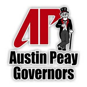 Peay Governors Peay Governors With Mascot Vinyl Die Cut Decal 4