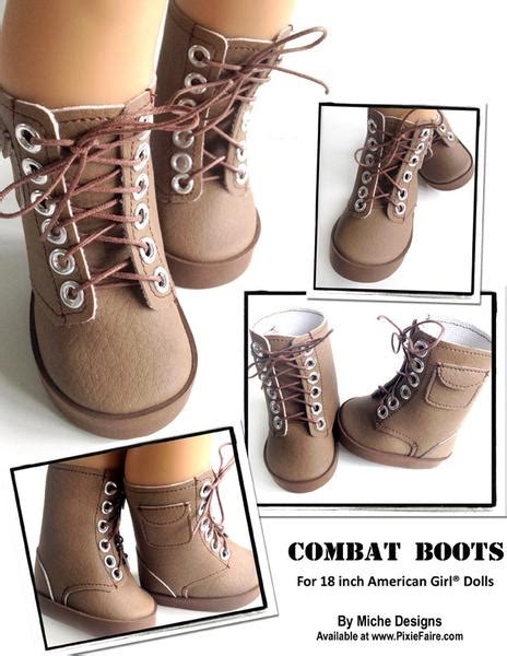 combat boots   doll shoes  pattern