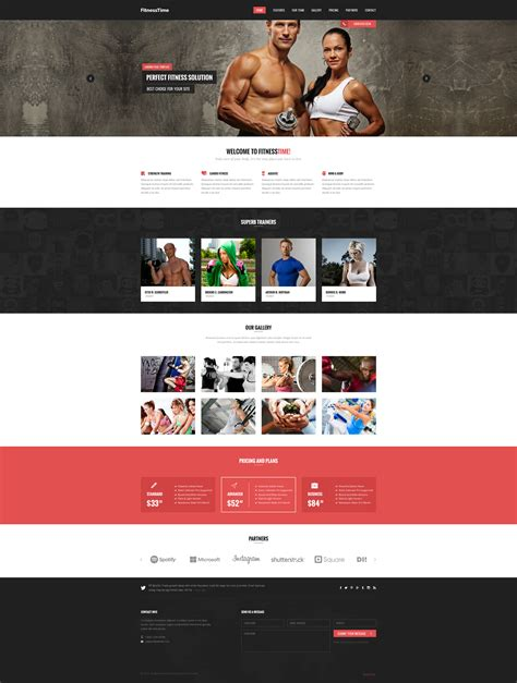 templates bodybuilder for photoshop download health fitness landing page psd template download