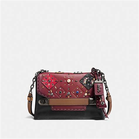 Coach Chain coach coach swagger chain crossbody with patchwork