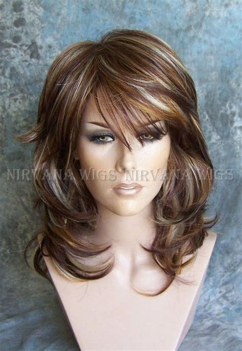 multi layered haircuts long hair delectable mixed auburn and blonde layered wig sexy as