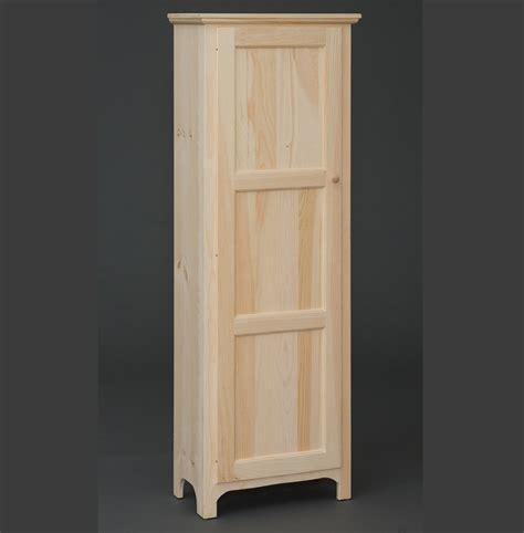 One Door Pantry by Solid Pine 1 Door Pantry