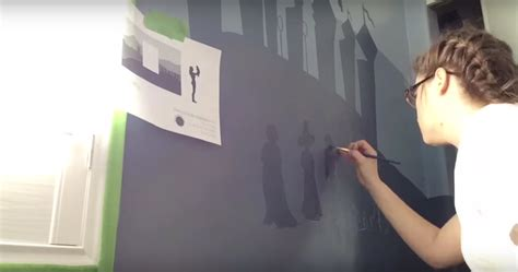 Harry Potter Wall Mural this incredible quot harry potter quot mural took less than a day
