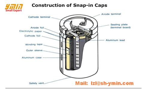 ymin electrolytic capacitor ymin snap in horn type aluminum electrolytic capacitor 630v for power supply sn3 china