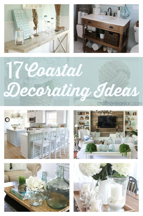 coastal decorating ideas 10 coastal decorating ideas craft o maniac