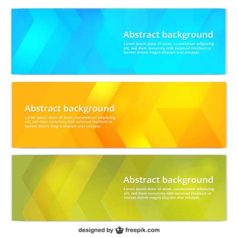 banner templates free colorful banner templates vector free