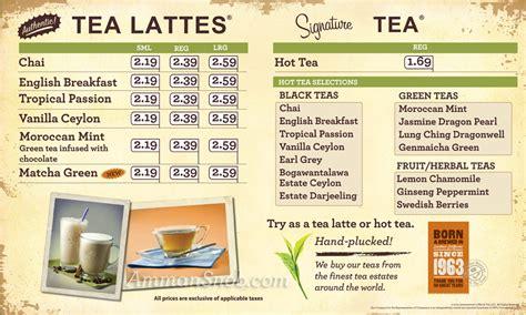Menu Coffee Bean And Tea Leaf the coffee bean tea leaf menu on ammansnob