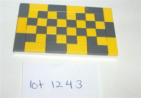 Lego Glossy lego yellow gray rug 1x1 1x2 tiles glossy plates friends