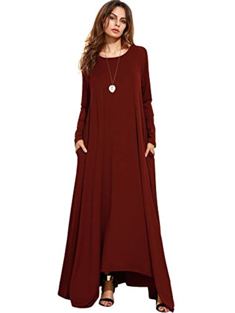 Maxi Coco Gl verdusa s casual v neck side split maxi
