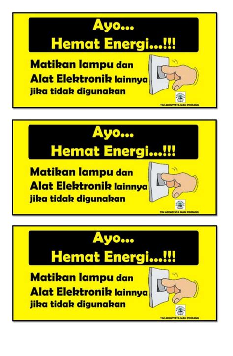Ac Panasonic Hemat Energi himbauan mari berhemat listrik